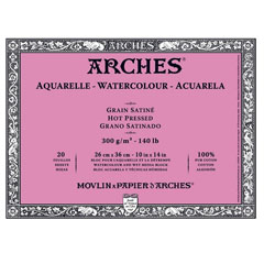 Bloc ARCHES® Aquarelle Watercolour Hot Pressed - 26 x 36 cm