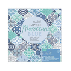 Set de hârtie decorativă Moroccan Blue - 32 coli