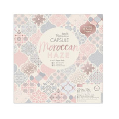 Set de hârtie decorativă Moroccan Haze - 32 coli