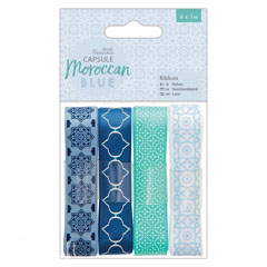 Set panglici decorative - Moroccan Blue - 4 x 1 m