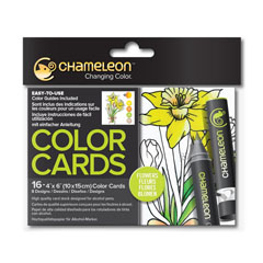 Color cards Chameleon Flowers - 16 buc