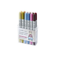 Markeri COPIC Ciao Vintage Colours - set 12 buc