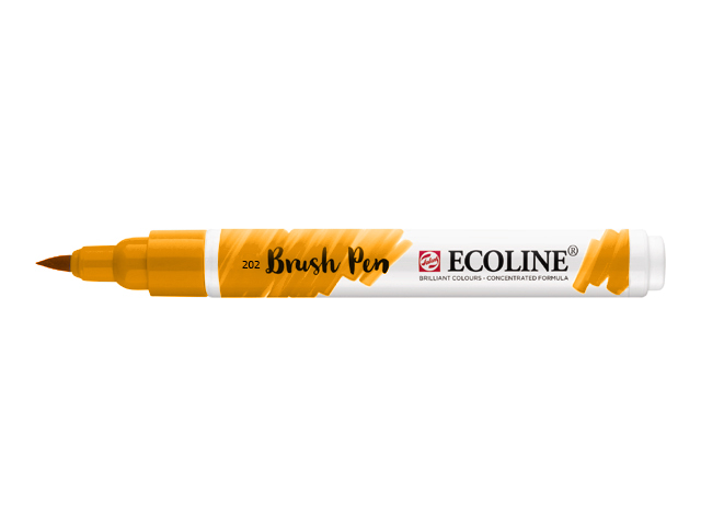Markeri acuarela Ecoline brush pen - Deep Yellow 202