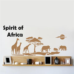 Șablon pentru perete Home Design BRICO XXL - Spirit of Africa