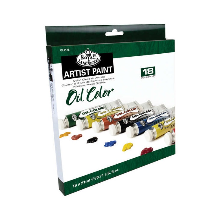 Set culori ulei Royal & Langnickel - 18x21 ml