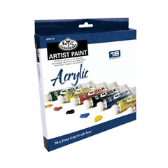 Set culori acrilice Royal & Langnickel - 18x21 ml