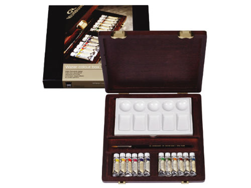 Valiză set / Culoare acuarel REMBRANDT  Traditional BOX 12x5ml