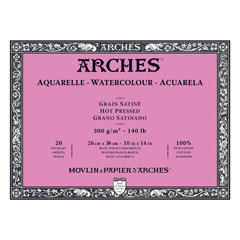 Bloc ARCHES® Aquarelle Watercolour Hot Pressed - 36 x 51 cm