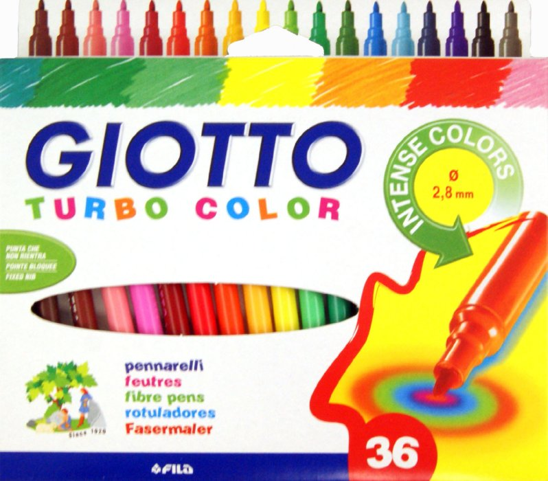 Carioci GIOTTO TURBO COLOR - 36 culori