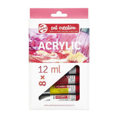 Culori acrilice art creation - set 8 x 12 ml