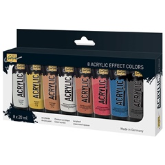 Culori acrilice Solo Goya Effect / set 8 x 20 ml