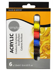 Daler- Rowney - set acrilic 6 x 12ml