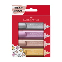 Markere metalice Faber-Castell 4 buc