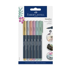 Markere metalice Faber-Castell - 6 buc