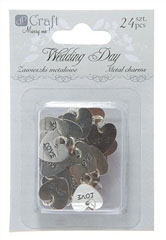 Pandative din metal Wedding Day - set 24 piese
