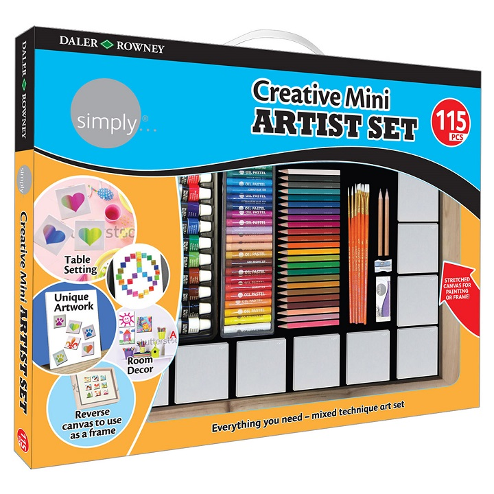 Set artistic mare - Daler – Rowney Creative Mini - 115 piese