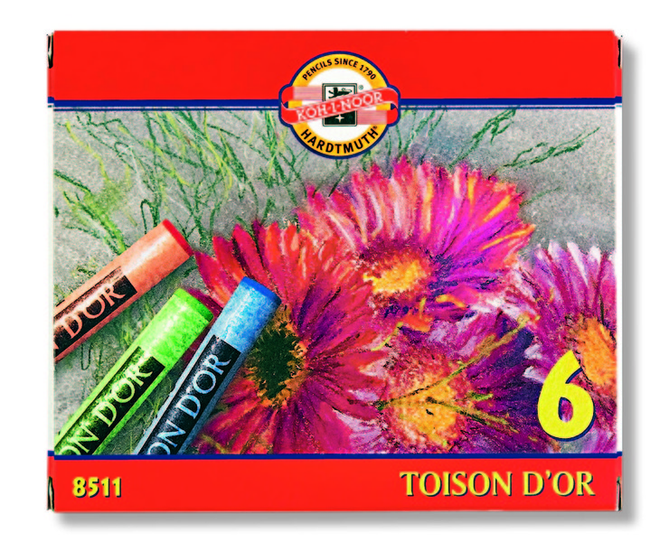 Set pasteluri uscate Toison D OR Koh-i-noor 6-piese