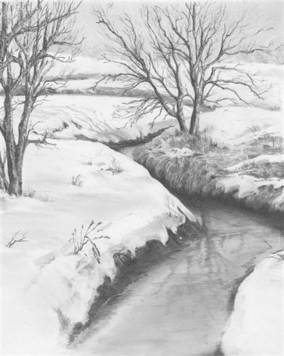 Sketching SET creativ - Winter stream