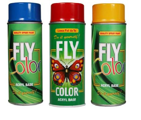 Verniș acrilic spray FLY COLOR 400 ml - selectează nuanța